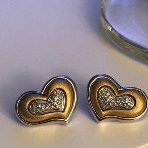 Vintage 90s Heart Earrings ❤️